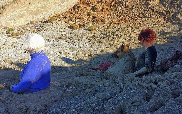 Weird cultural story of the day:  Two women stuck chest deep after trying to rescue their dog