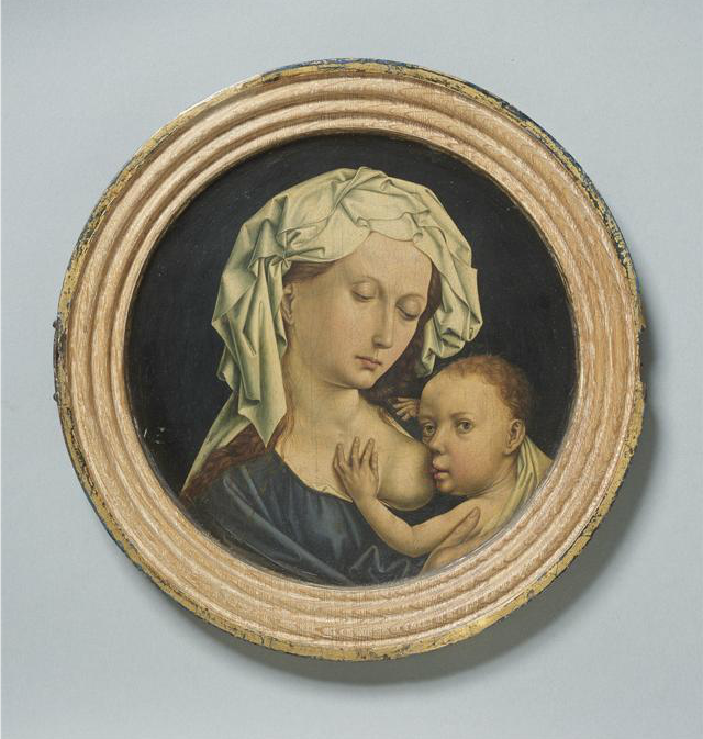Master of Flémalle. The Virgin Suckling the Christ Child. Mid-15th century.