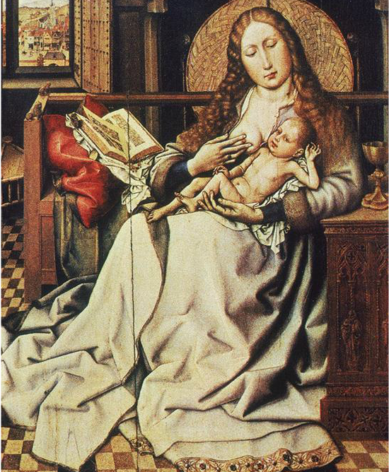 Campin, Robert. Virgin & Child Before a Firescreen. 1420.