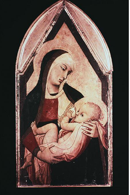 Lorenzetti, Ambrogio. Madonna del Latte  c.1340